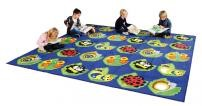 Back To Nature Bug Square Classroom Rugs