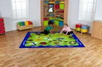 Back to nature minibeasts classroom rug