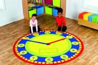 Tell The Time Classroom Rug