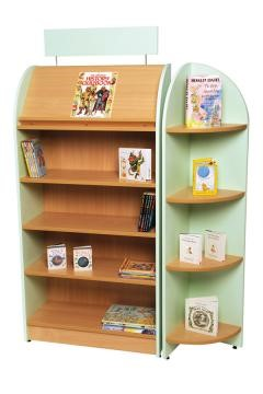 Tortuga Library Unit With End Display Unit