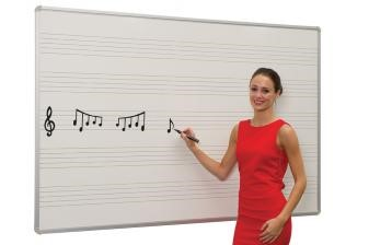 Whiteboard with Music Staves