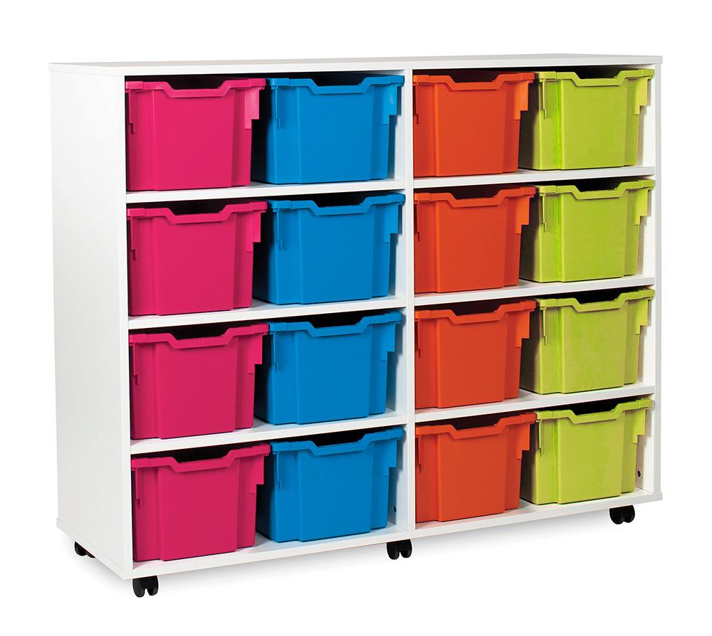 White Range Classroom Storage Unit Extra Deep Tray