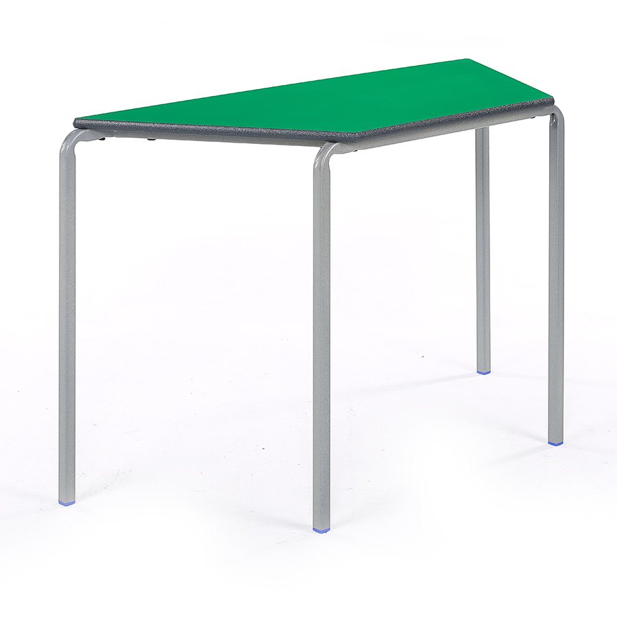 Crush Bent Stacking Classroom Table Trapezoidal Pack of 3