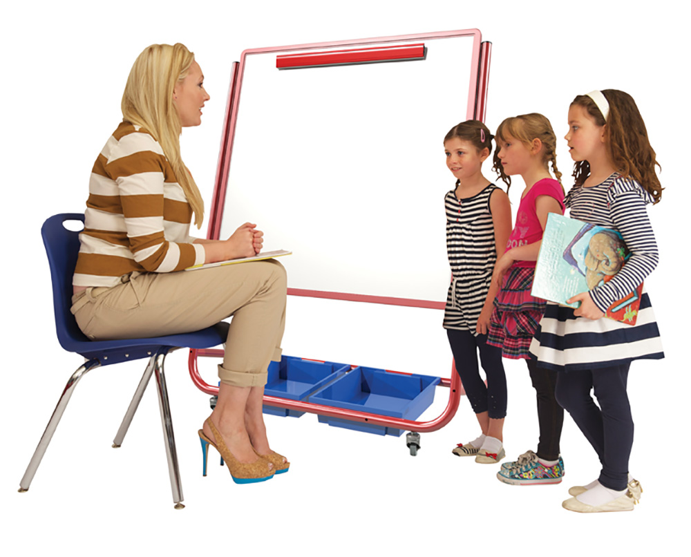 Little Rainbows Mobile Magnetic Display / Storage Easel