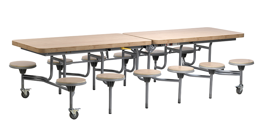 Primo Contemporary Folding Table Mobile Seating Unit