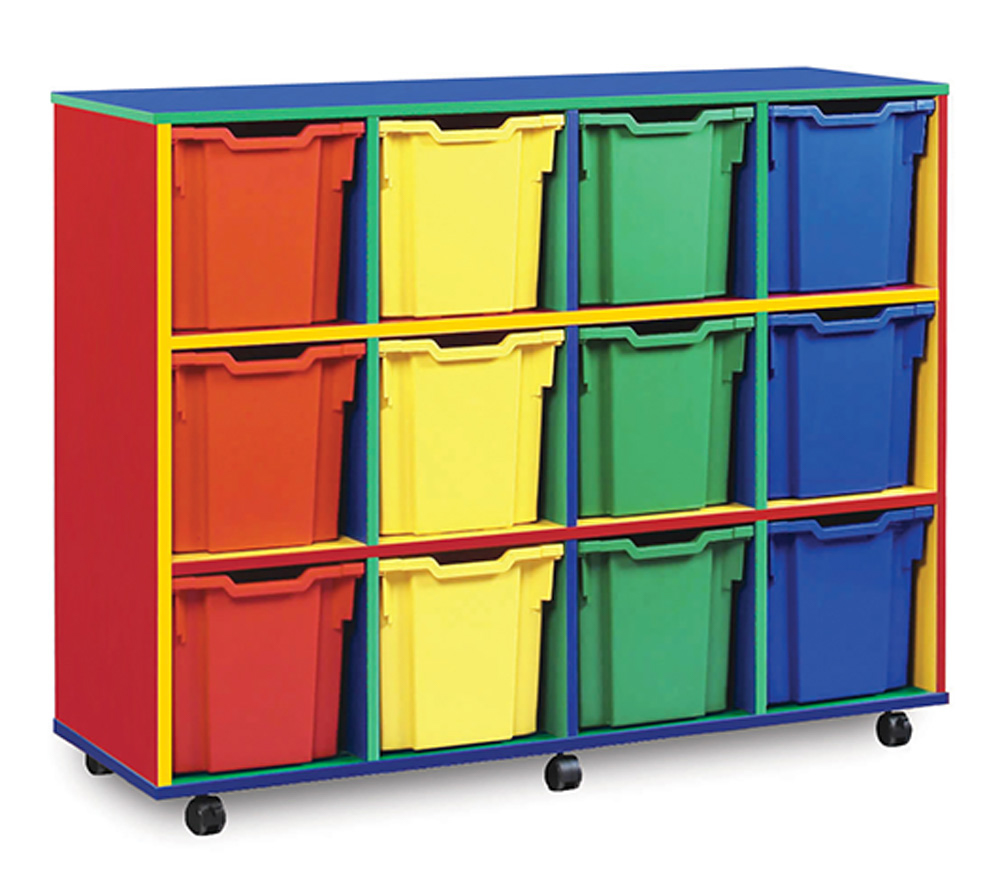 Colour My World Jumbo School Storage Trays
