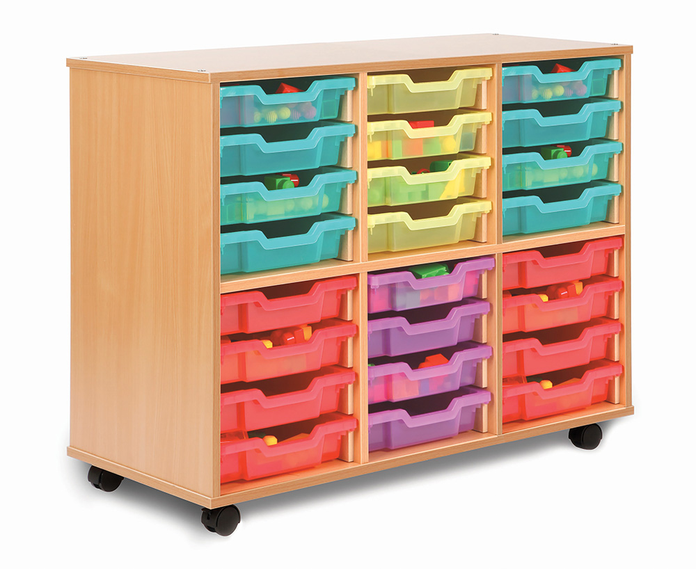 Allsorts Stackable Classroom Storage Unit Shallow Trays