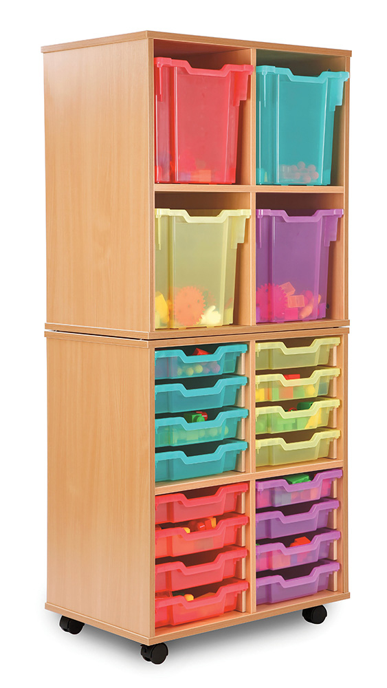 Allsorts Stackable Classroom Storage Unit Jumbo Trays