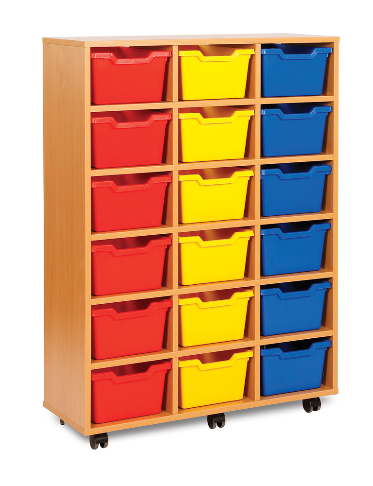 Cubby Range Classroom Tray Storage