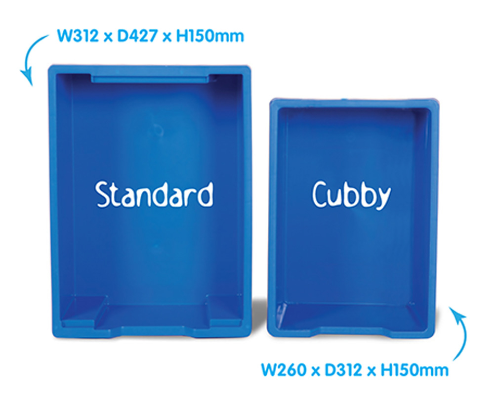 Cubby Range Variety Classroom Tray Storage
