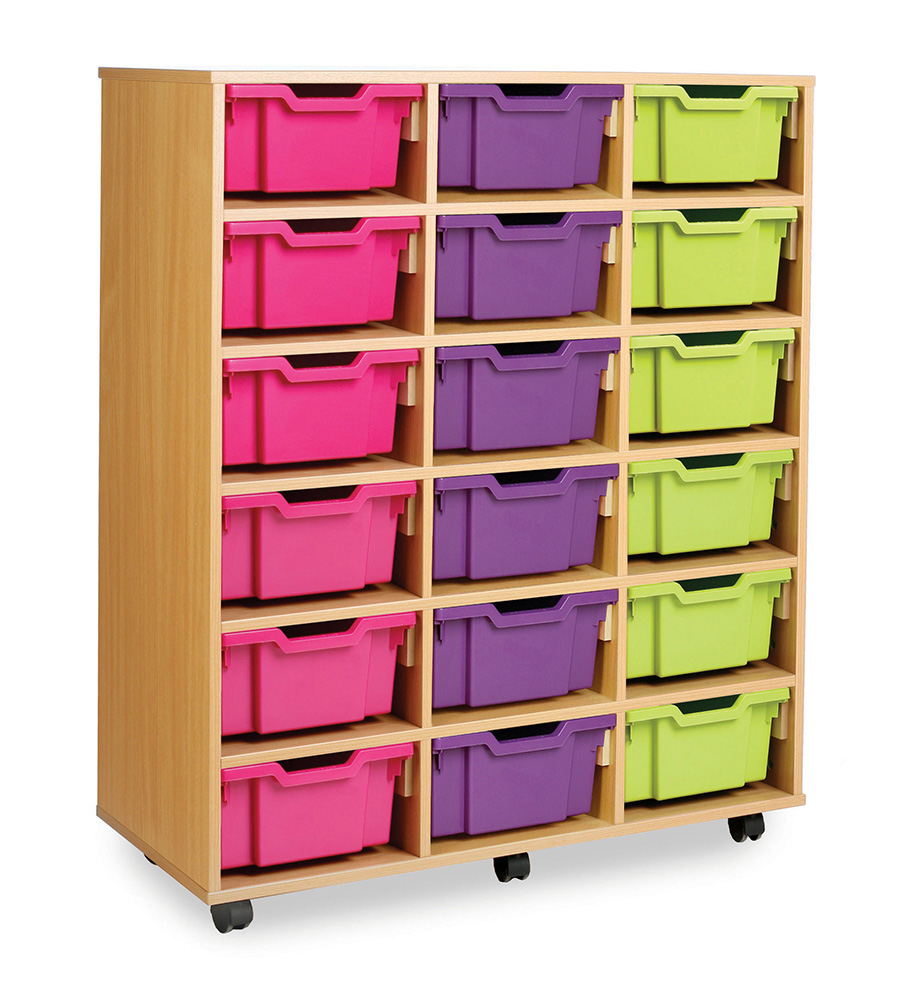 36 or 18 Combination Tray Storage Unit