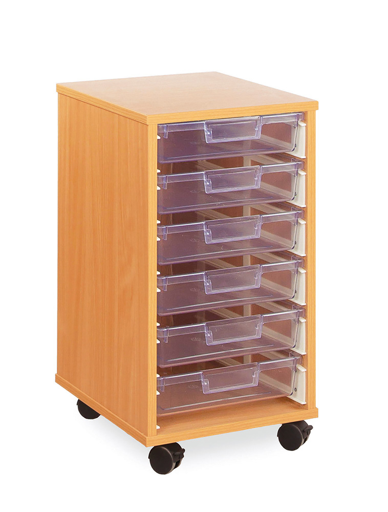 Crystal Clear Classroom Tray Storage Shallow Tray