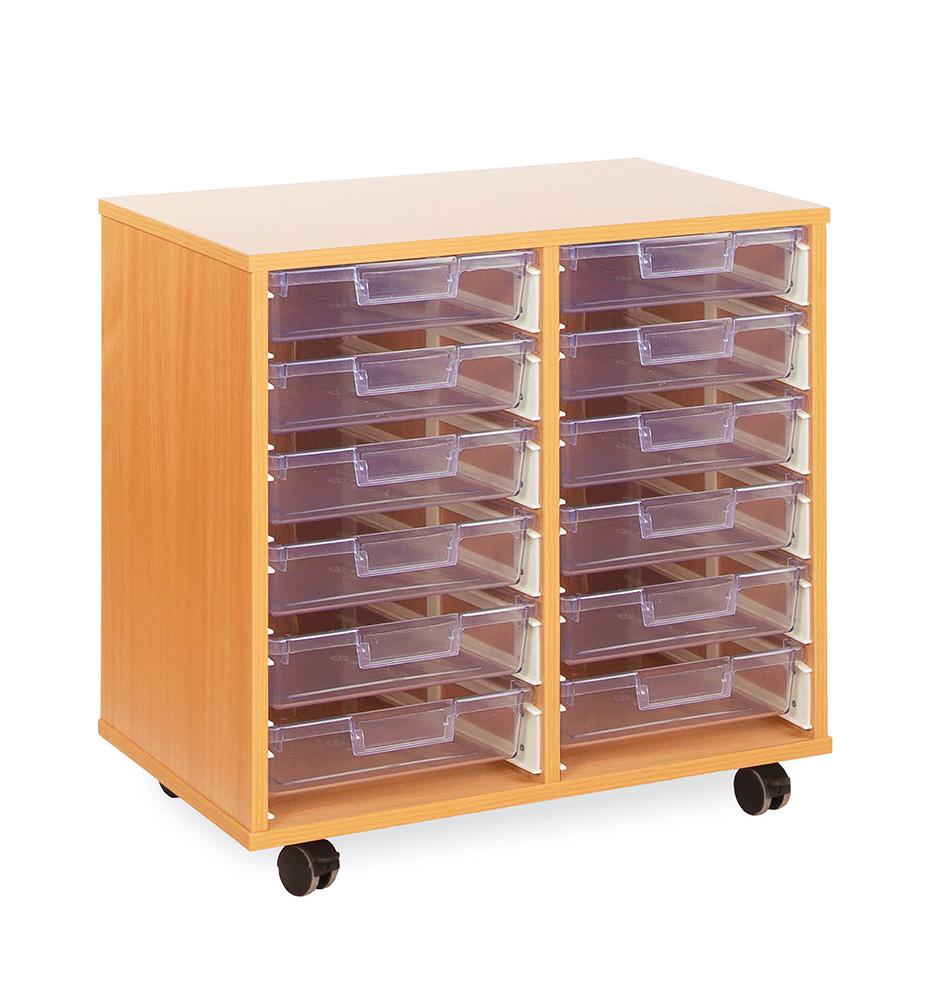 Crystal Clear Classroom Tray Storage Shallow Tray
