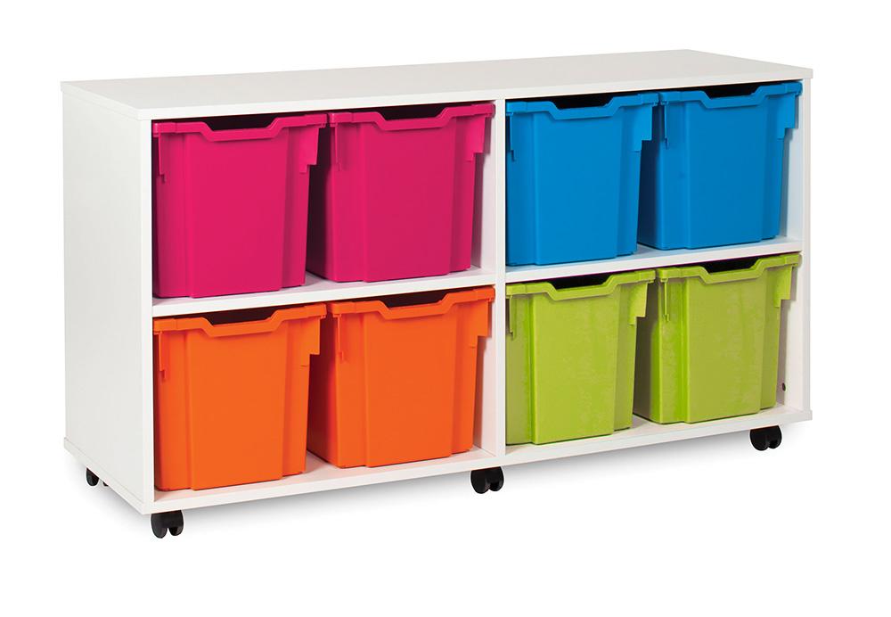 White Range Classroom Storage Unit Jumbo Tray
