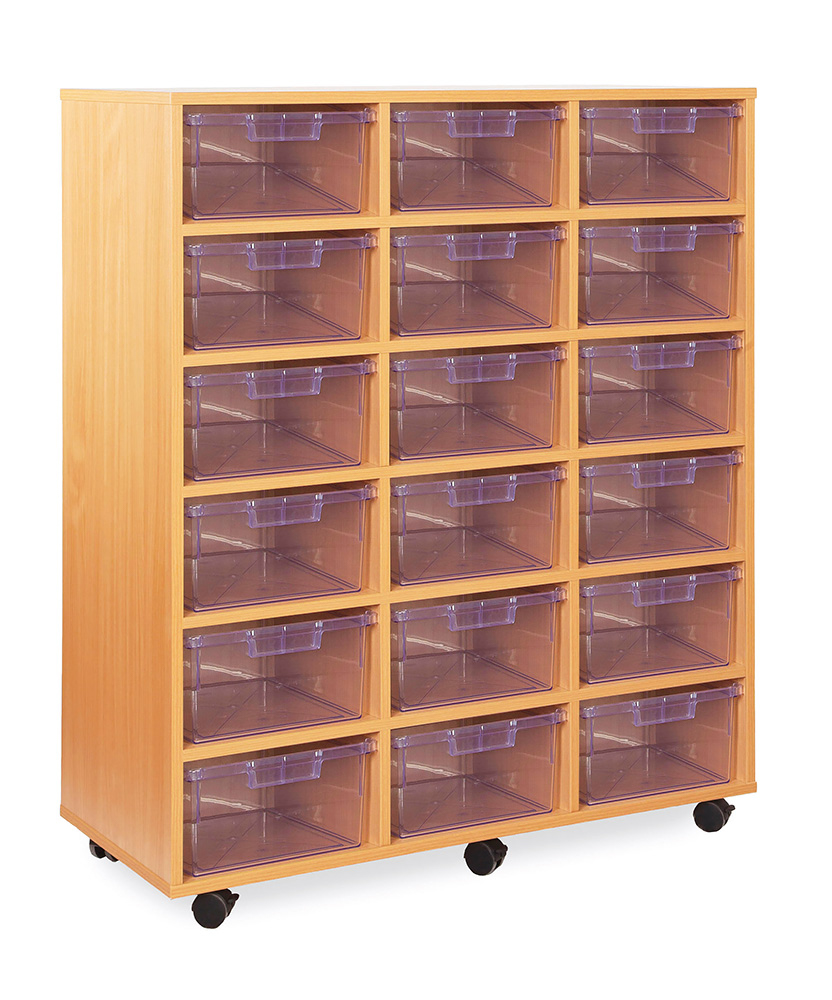 Crystal Clear Classroom Tray Storage Deep Tray