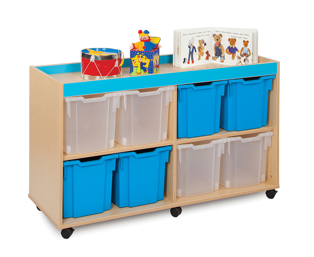 Bubblegum Classroom Storage Unit Jumbo Trays