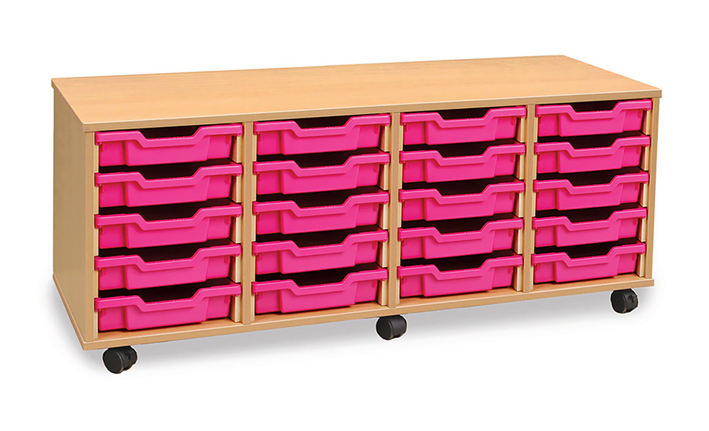 4Store Shallow Tray Classroom Storage Unit