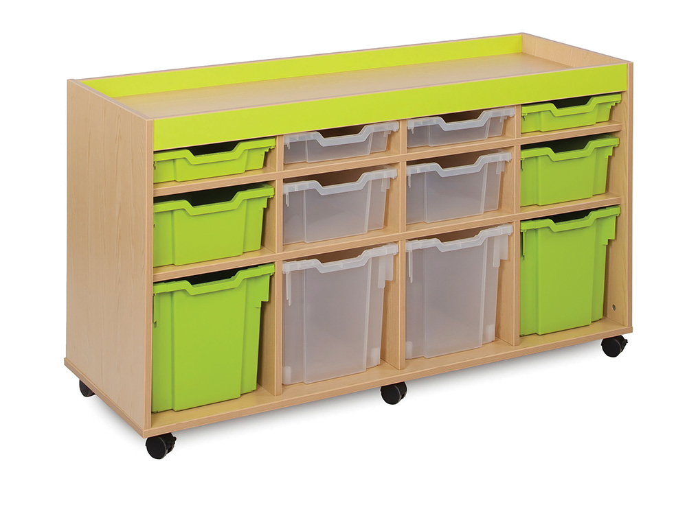 Bubblegum Classroom Storage Unit 12 Variety Trays