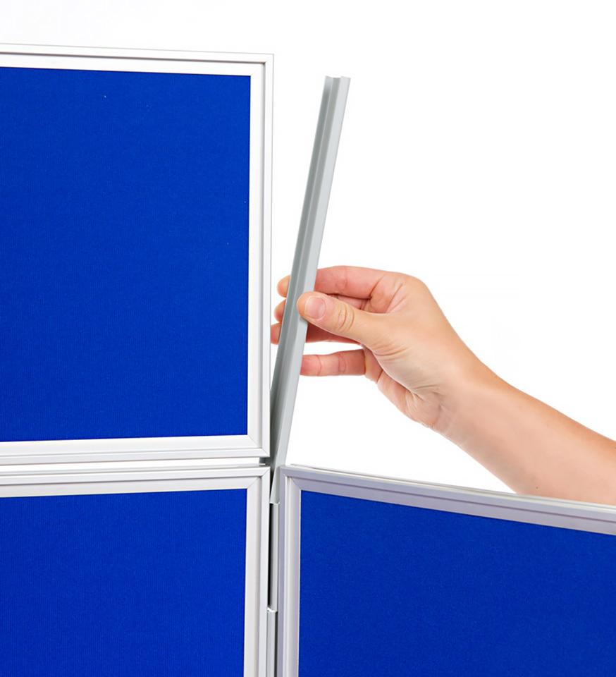 Aluminium Frame 7 Panel School Display Board