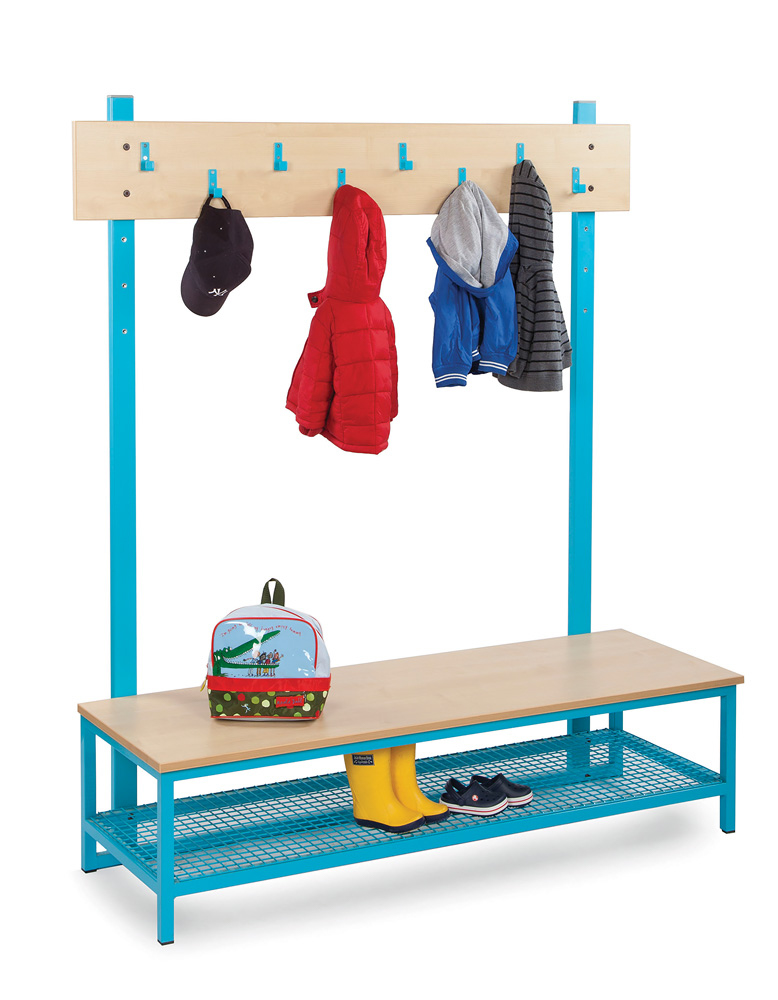 Bubblegum Cloakroom Storage Unit With Hooks and Boot Rack