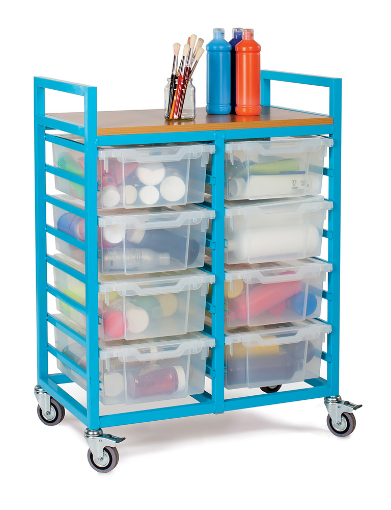 Art Trolley With 8 Deep Trays