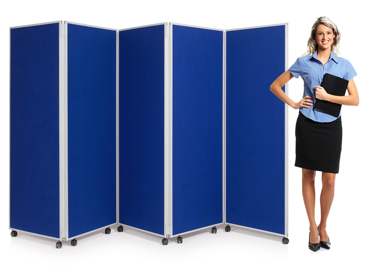5 Panel Concertina Screen Classroom Dividers