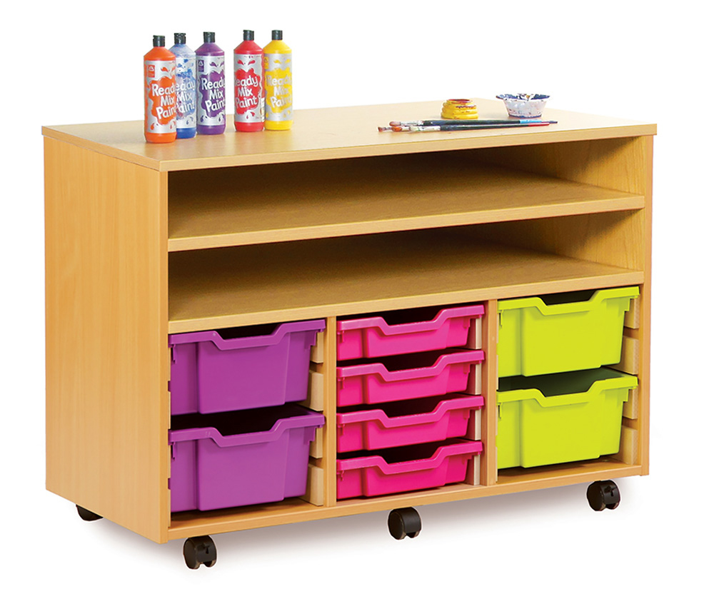Art Storage Trolley With Trays And Shelves