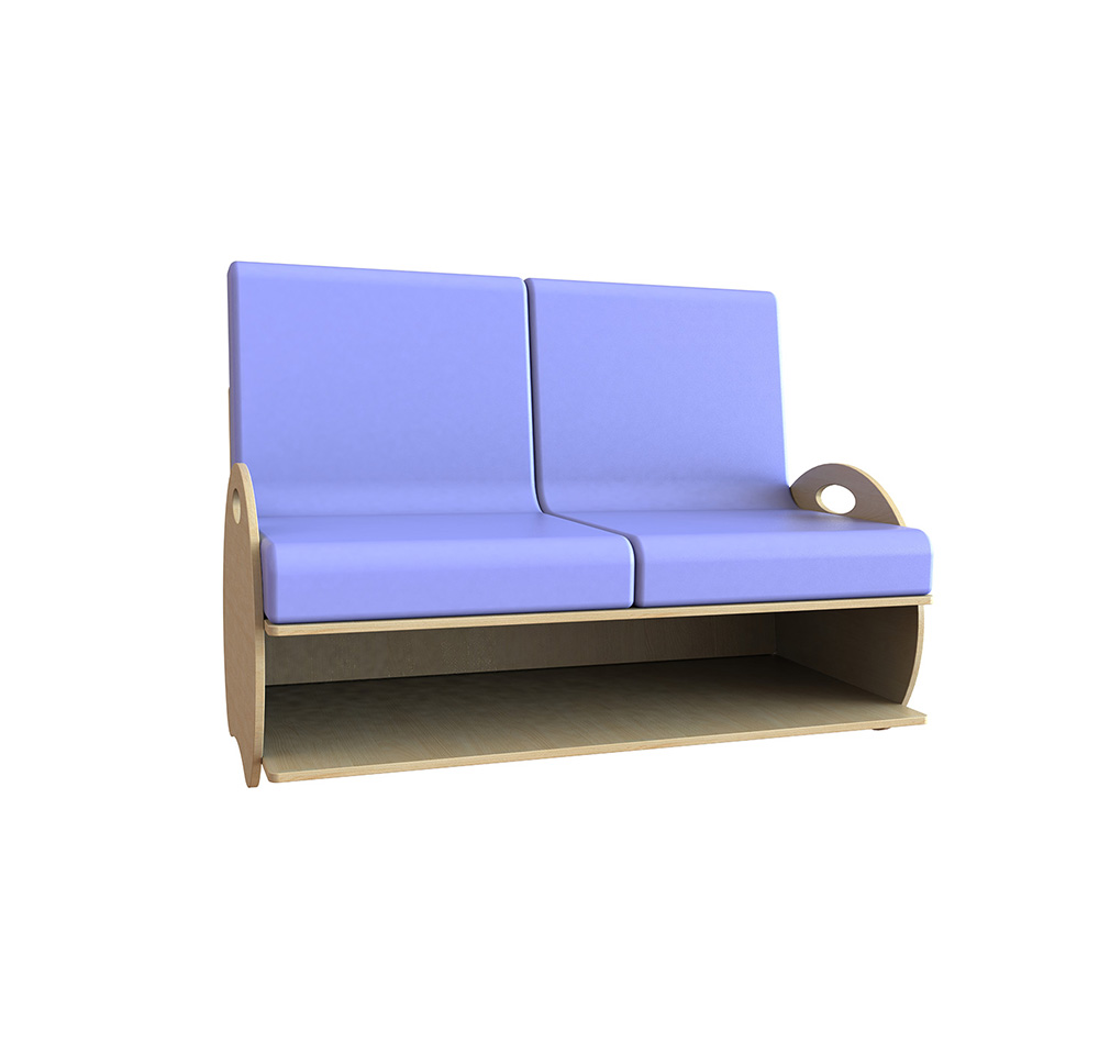 Kids Sofa Soft Seating 2 Seat