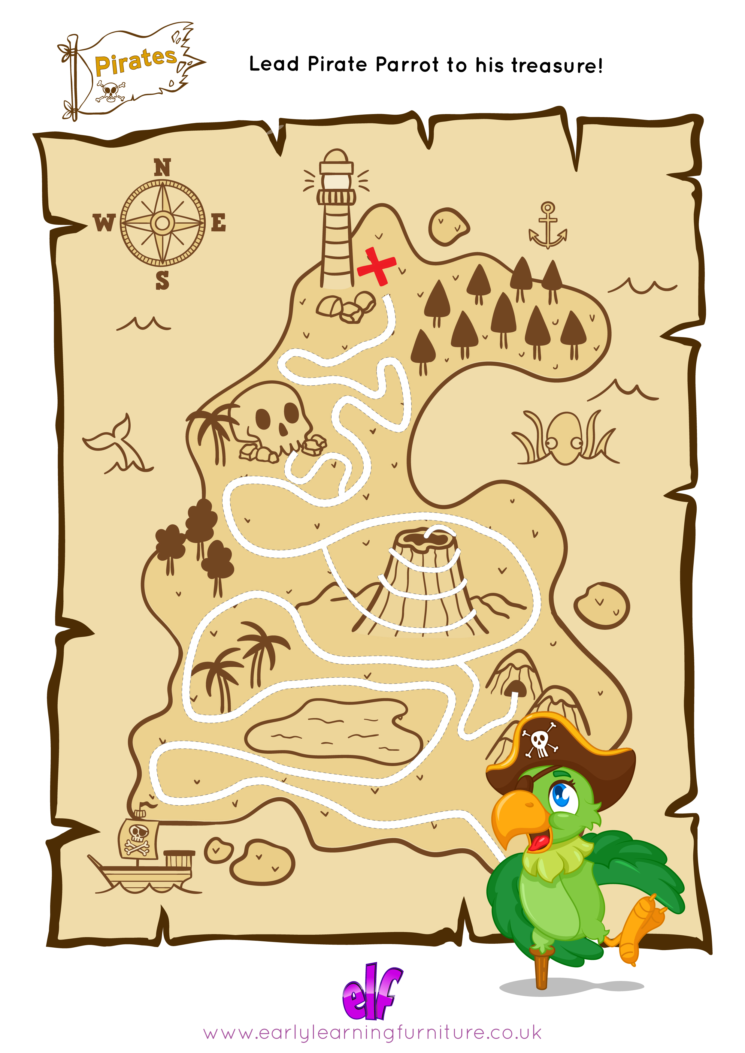 Free Teaching Resources Pirate Themed- Maze
