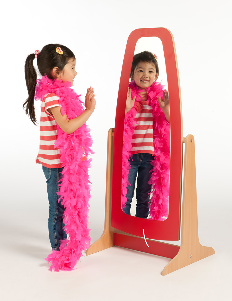 Galaxy Wooden Dressing Up Mirror Early Learning Furniture