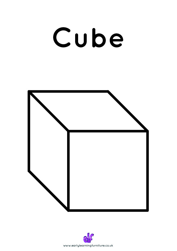 Free Teaching Resources Shapes- Cube