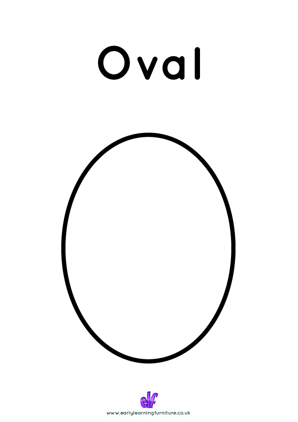 Free Teaching Resources Shapes- Oval