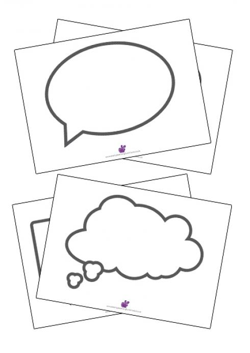 picture about Printable Speech Bubbles identified as Speech Bubbles Totally free Education Instrument