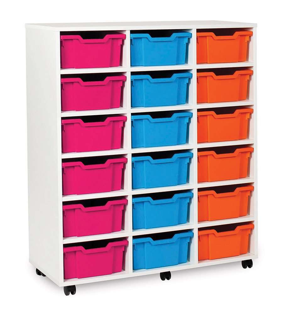 White Range Classroom Storage Unit Deep Tray