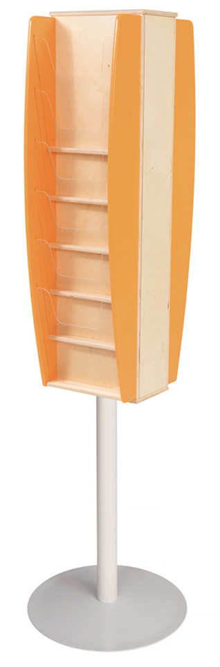 Colourama Floorstanding Multi Pocket Leaflet Stand