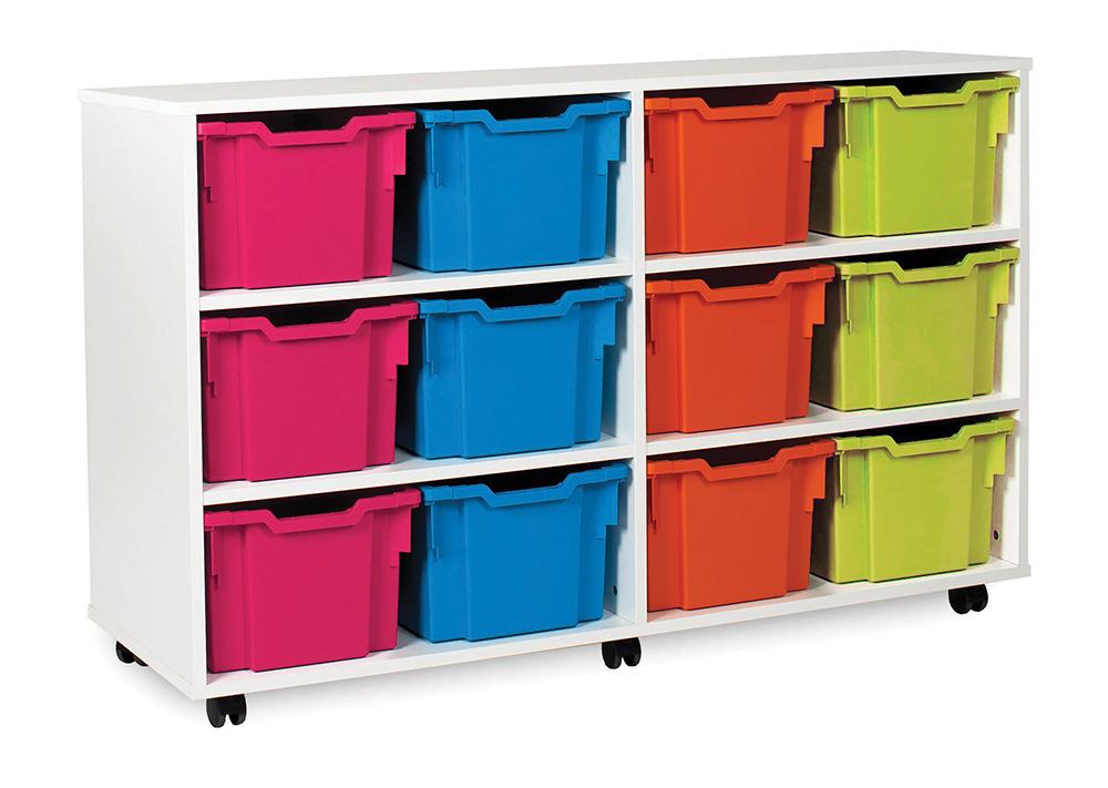 White Range Classroom Storage Unit Variety Tray