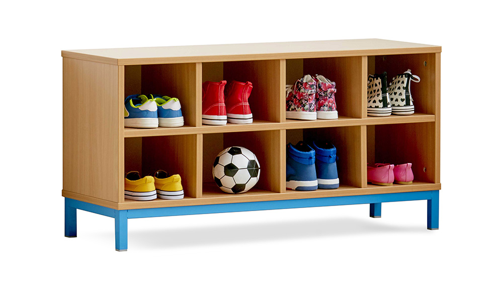 School Cloakroom Bench With Storage Compartments