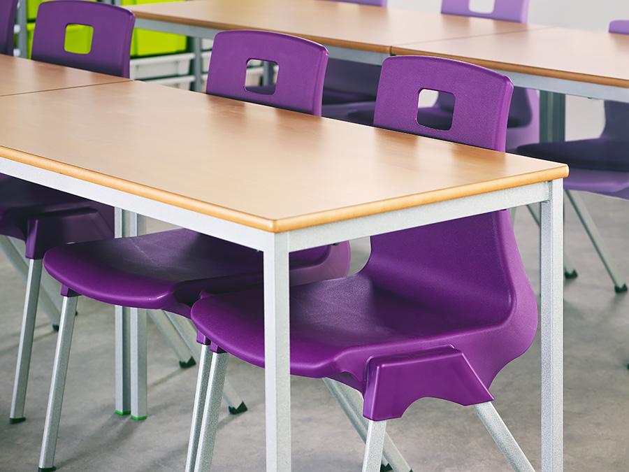Fully Welded Rectangular Classroom Desk Pack of 3
