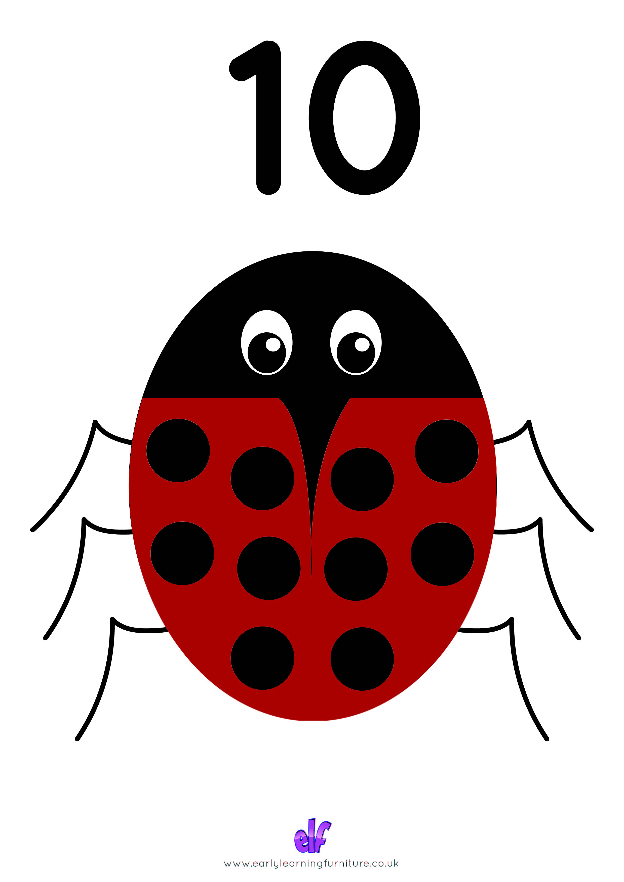 Free Teaching Resources Numbers- Bug Number 10