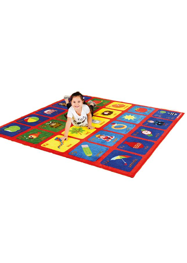 Alphabet Rug Square Classroom Carpet