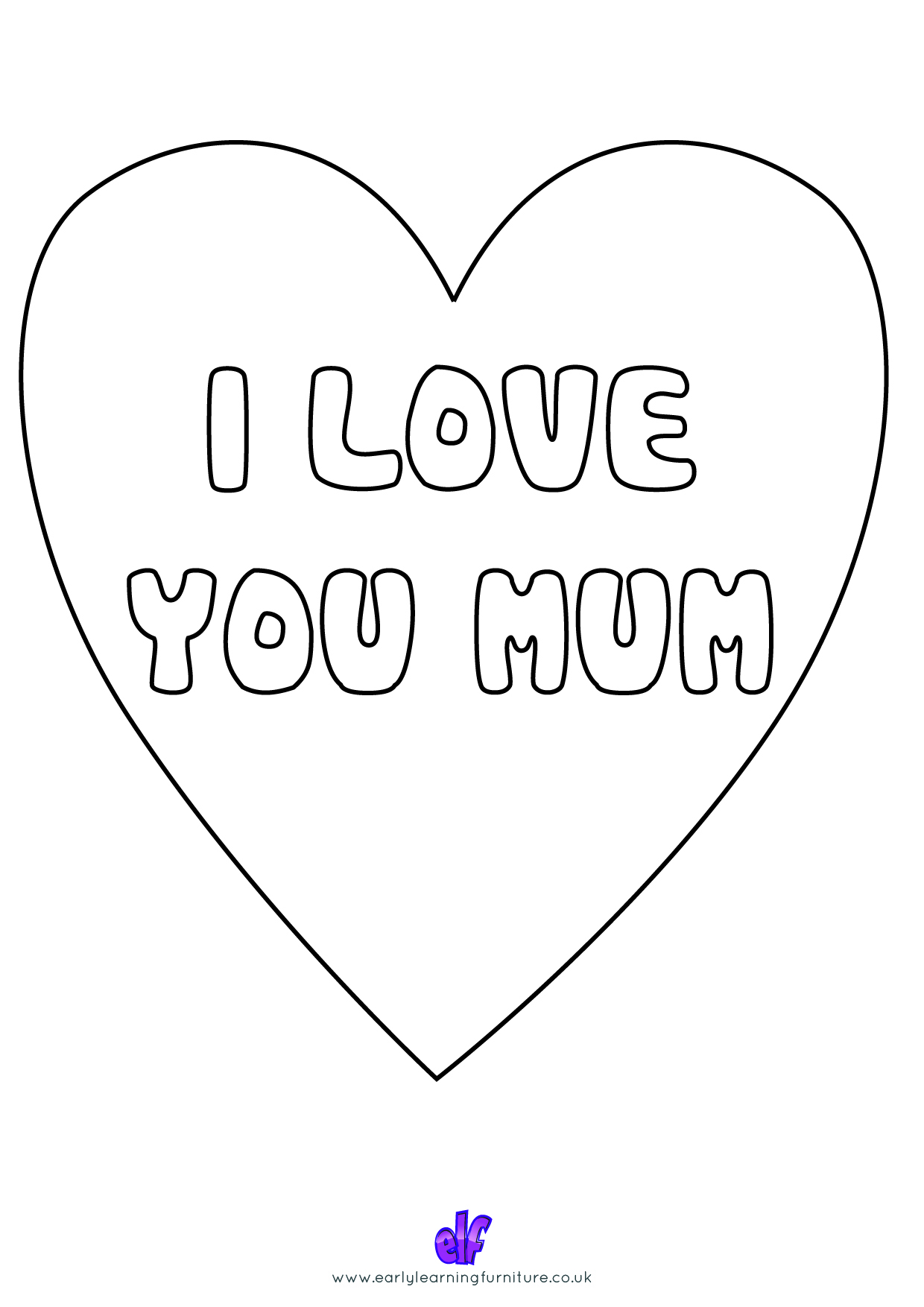 Free Teaching Resources Mothers Day- Happy Mothers Day Colour In Love