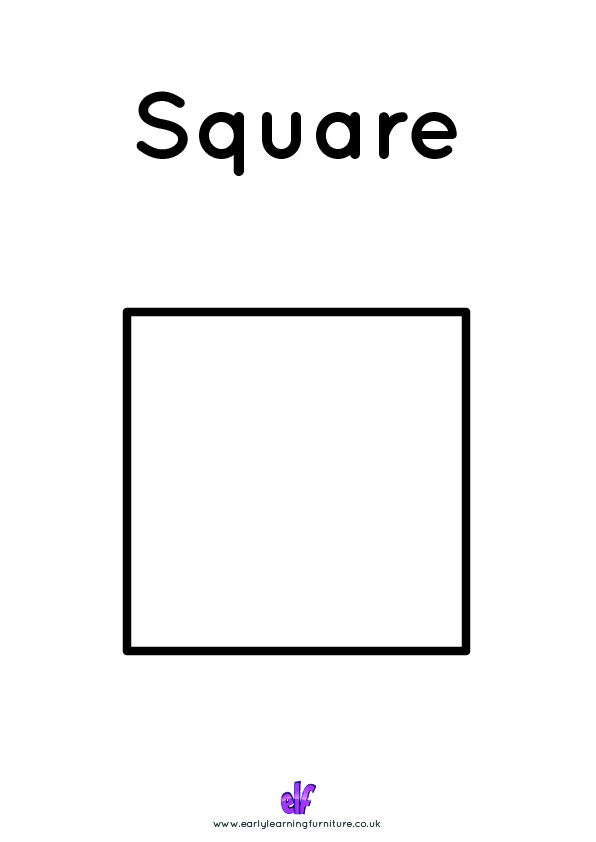 Free Teaching Resources Shapes- Square