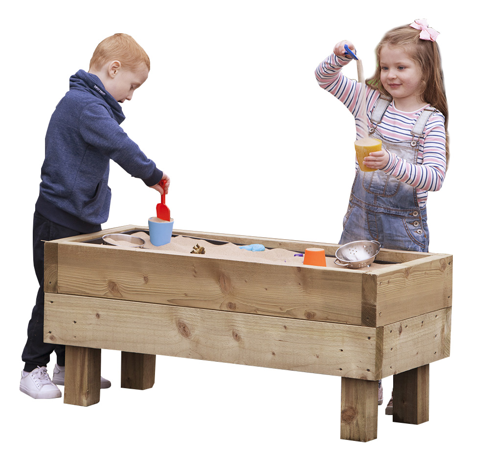 Freestanding Outdoor Wooden Sand Pit