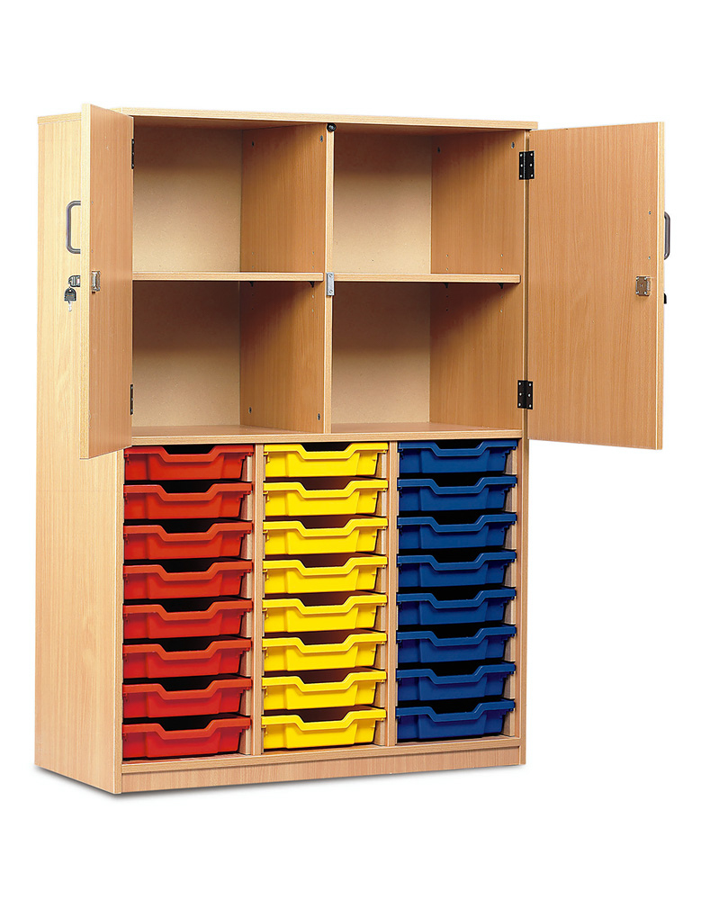 24 Shallow Tray Storage Cupboard