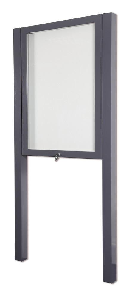 Double Post Mounted School Outdoor Notice Board