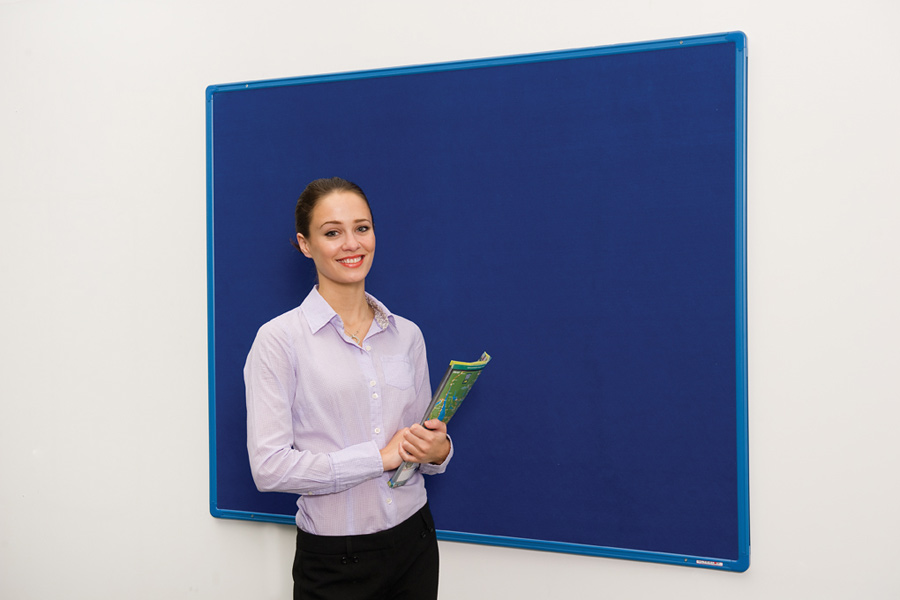 Flameshield Colour Co-ordinated Framed Noticeboard