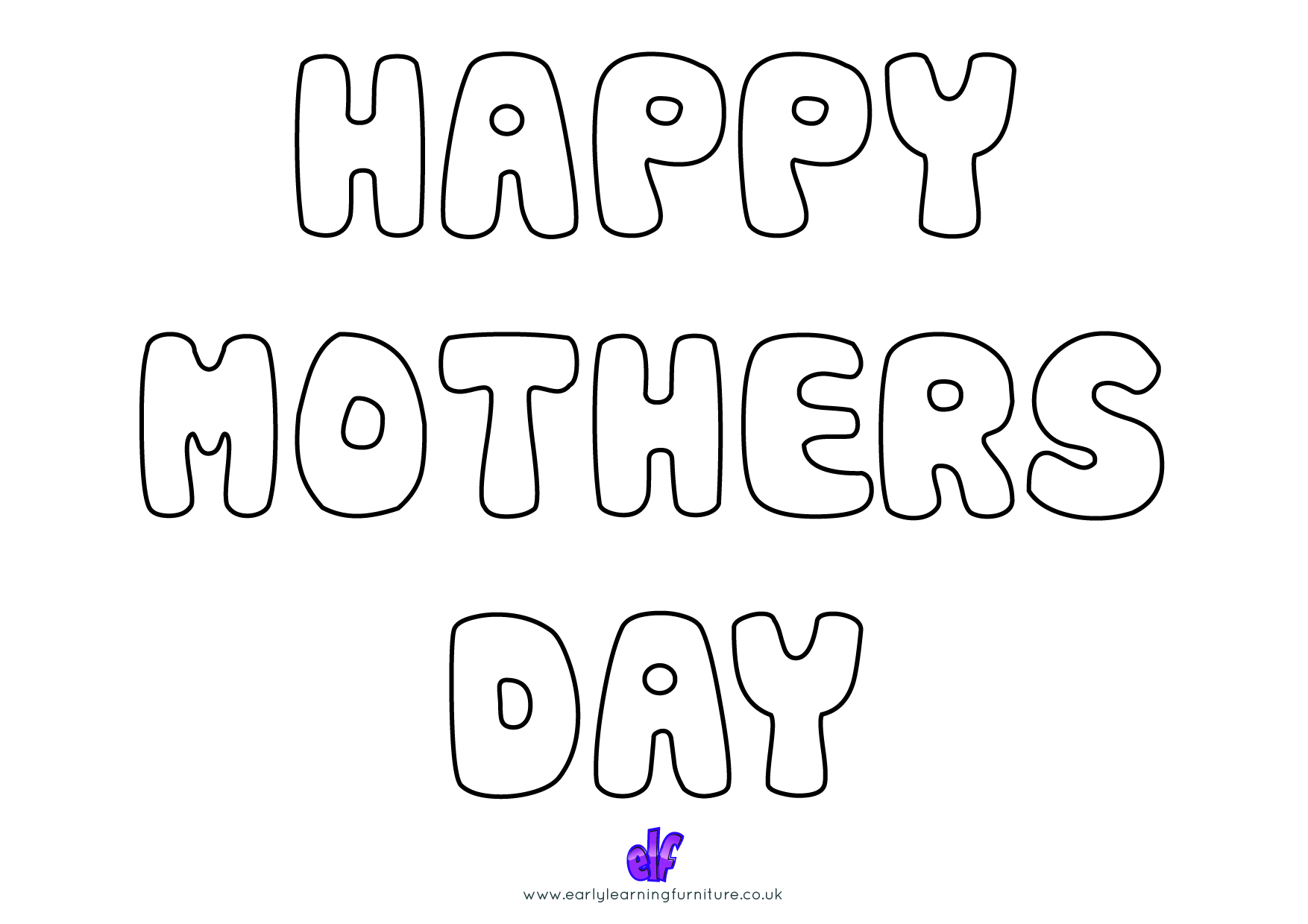Free Teaching Resources Mothers Day- Happy Mothers Day Colour In 2