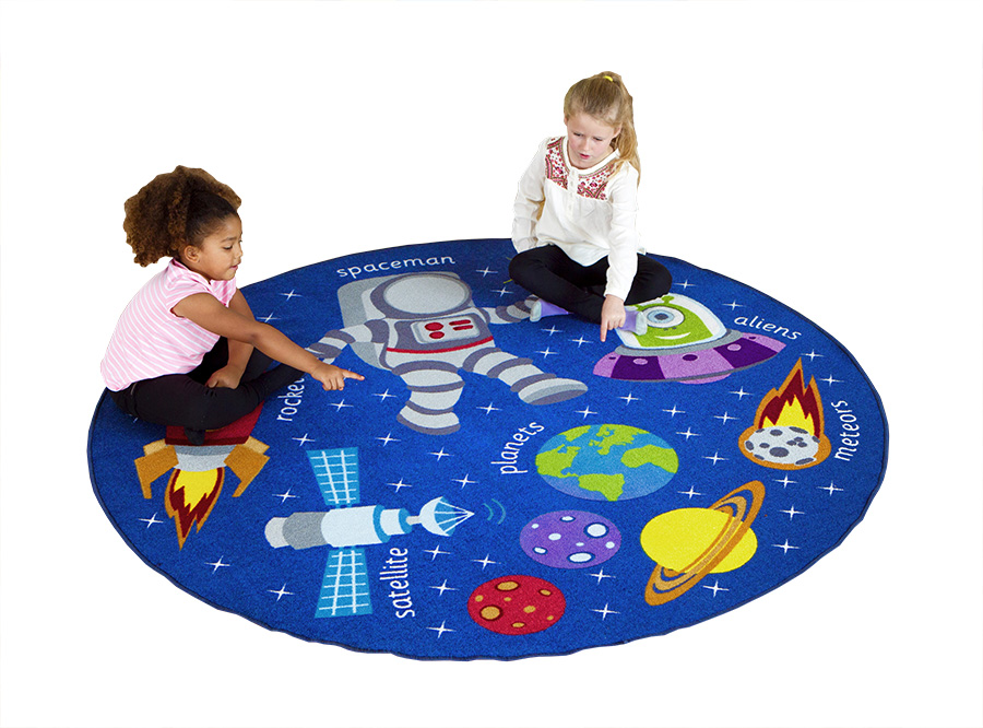 Space Themed Educational Rugs