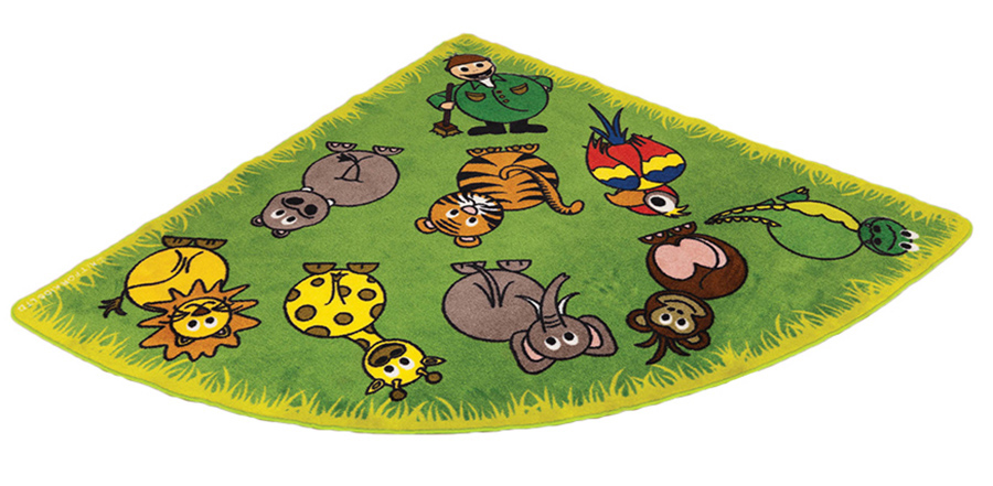 Town & Country Zoo Animals Corner Classroom Carpets