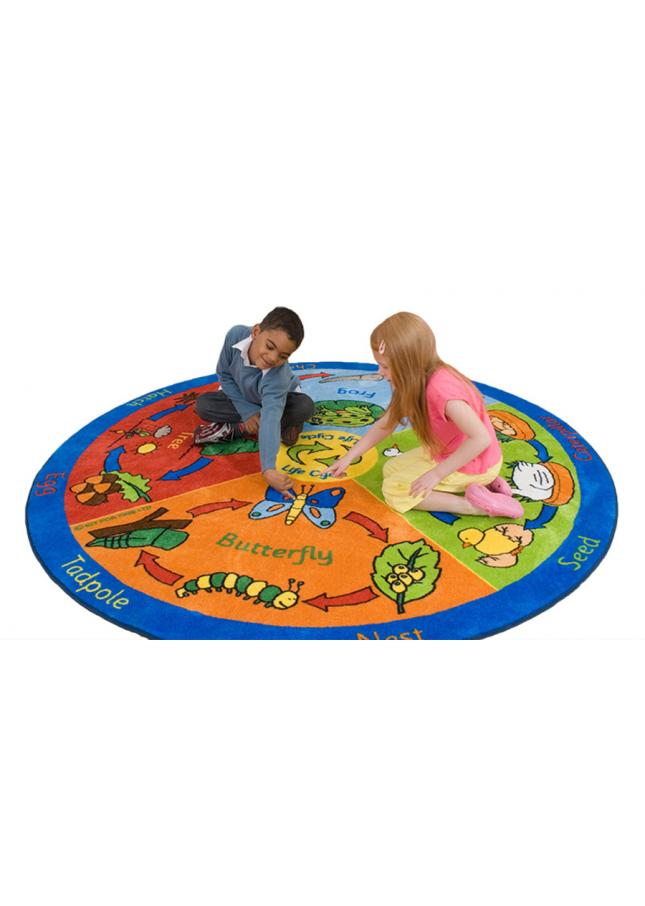 Back to Nature Life Cycle Educational Rugs